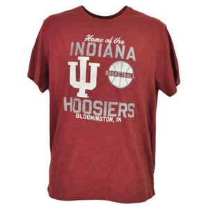NCAA Indiana Hoosiers Basketball Burgundy Mens Tshirt Tee Bloomington IN Sports