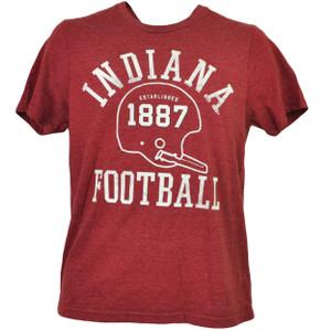 NCAA Indiana Hoosiers Helmet 1887 Football Burgundy Tshirt Tee Mens Short Sleeve