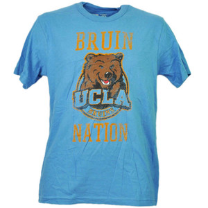 NCAA UCLA California Bruins Nation Distressed Tshirt Tee Blue Mens Short Sleeve
