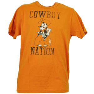 NCAA Oklahoma State Cowboys Nation Orange Short Sleeve Crew Neck Mens Sports
