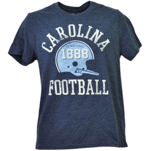 NCAA North Carolina Tar Heels Helmet Football Mens Tshirt Tee Short Sleeve Blue