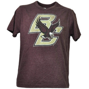 NCAA Boston College Eagles Distressed Logo Mens Tshirt Tee Short Sleeve Sports