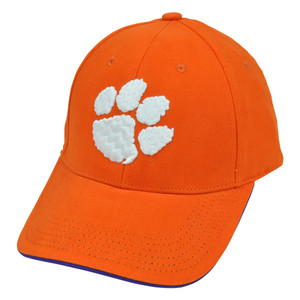 NCAA S&L Chino Cotton Cap Hat Clemson Tigers Velcro Adjustable Construct Curved