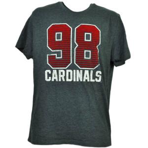 NCAA Louisville Cardinals Felt 98 Cards Short Sleeve Gray Tshirt Tee Mens Adult