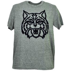 NCAA Arizona Wildcats Felt Logo Gray Tshirt Tee Mens Adult Short Sleeve Sports