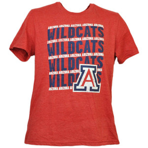 NCAA Arizona Wildcats Red Tshirt Tee Mens Adult Short Sleeve Crew Neck Sports
