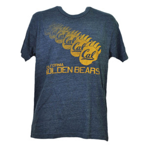 NCAA California Golden Bears Repeat Logo Tshirt Tee Mens Navy Short Sleeve Sport