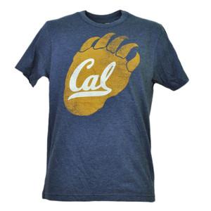 NCAA California Golden Bears Cal Tshirt Tee Mens Navy Short Sleeve Paw Logo Adult
