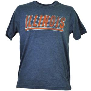 NCAA Illinois Fighting Illini Navy Blue Tshirt Tee Mens Adult Short Sleeve Sport
