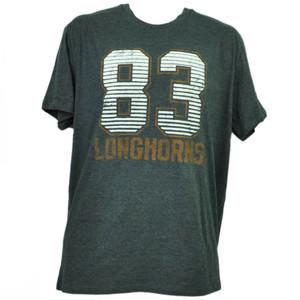 NCAA Texas Longhorns Felt 83 Gray Tshirt Tee Mens Adult Short Sleeve Crew Neck