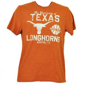 NCAA Texas Longhorns Basketball Mens Tshirt Tee Orange Short Sleeve Austin TX