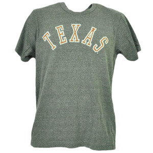 NCAA Texas Longhorns Gray Tshirt Tee Mens Adult Short Sleeve Crew Neck Sports