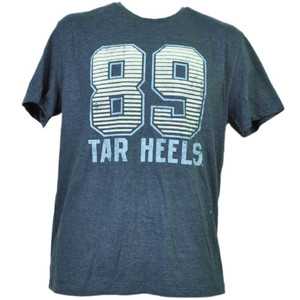 NCAA North Carolina Tar Heels Felt 89 Navy Blue Short Sleeve Mens Adult Sports
