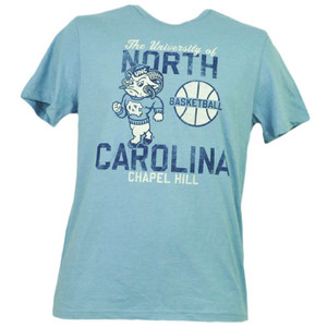 NCAA North Carolina Tar Heels Basketball Blue Short Sleeve Mens Chapel Hill