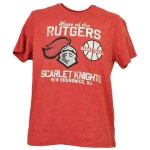 NCAA Rutgers Scarlet Knights Basketball New Brunswick NJ Red Tshirt Tee Mens