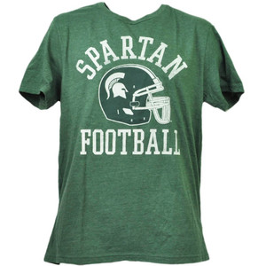 NCAA Michigan State Spartans Large Helmet Green Mens Adult Tshirt Tee Sports