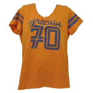NCAA Syracuse Orange Tee Tshirt XLarge Womens Sports Short Sleeve Orange Ladies