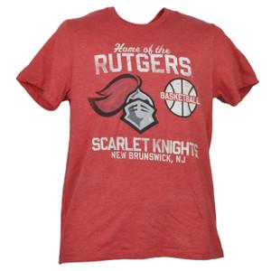 NCAA Rutgers Scarlet Knights Small Tshirt Tee Red Mens Short Sleeve Crew Neck