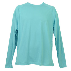 Baby Blue Dry Fit Tshirt Tee Mens Adult Long Sleeve Plain Blank Crew Neck Solid