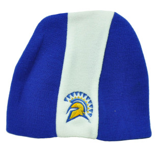 NCAA Top of The World San Jose State Spartans Knit Beanie Blue White Cuffless