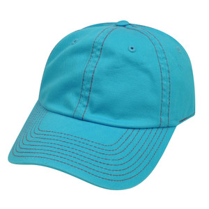American Needle Blue Ladies Womens Fit Blank Plain Relaxed Sun Buckle Hat Cap