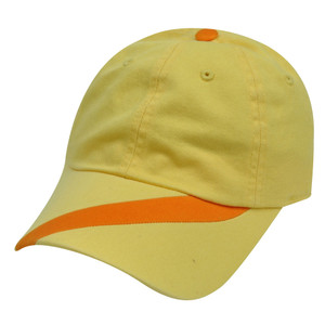 American Needle Side Stripe  Yellow Orange Hat Cap Relaxed Adjustable