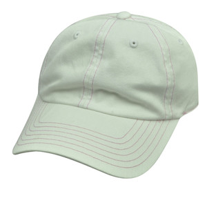 American Needle White Ladies Womens Fit Blank Plain Relaxed Sun Buckle Hat Cap