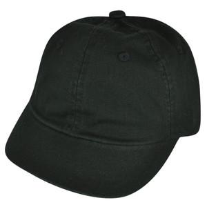 American Needle Blank Solid Black Plain Belt Buckle Felt Flat Bill Wool Hat Cap