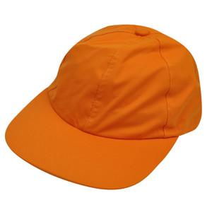 American Needle Orange Nylon Hat Cap Relaxed Blank Plain Flexible Sun Buckle