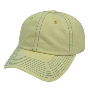 American Needle Light Yellow Ladies Blank Plain Relaxed  Hat Cap Womens