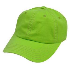 American Needle Neon Green Ladies Womens Blank Plain Relaxed Sun Buckle Hat Cap