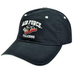 HAT CAP AIR FORCE FALCONS BAD BONE SKELETON PILOT NAVY BLUE GAME LICENSED NCAA