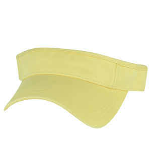 American Needle Pale Golden Yellow Blank Solid Color Sports Sun  Visor Hat