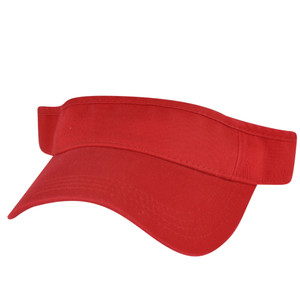 American Needle Crimson Fire Red Blank Solid Color Sports Sun  Visor Hat