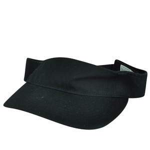 American Needle Charcoal Black Blank Solid Color Sports Sun  Visor Hat