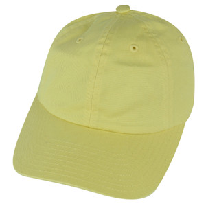 American Needle Light Yellow Blank Sun Buckle Solid Relaxed Hat Cap Adjustable