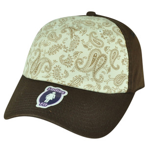 American Needle Two Toned Flowered Ladies Fit Brown Sun Buckle Relaxed Hat Cap