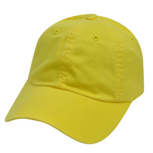 American Needle Bright Yellow Ladies Fit Womens Relax Blank Plain Solid Hat Cap