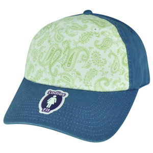 American Needle Two Toned Flowered Ladies Fit Blue Sun Buckle Relaxed Hat Cap