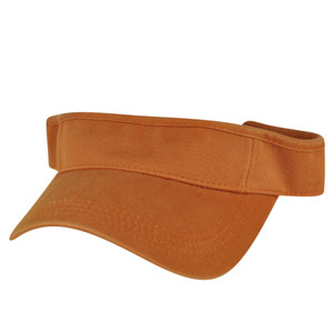 American Needle Coral Orange Brown Blank Solid Color Sports Sun  Visor Hat