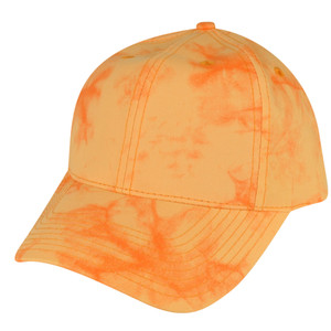 American Needle Bright Orange Watercolor Sun Buckle Solid Plain Relaxed Hat Cap