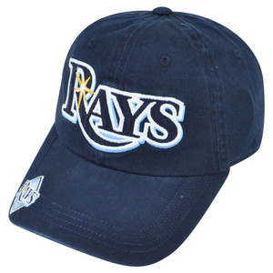 MLB Tampa Bay Rays Perfect Catch Women Ladies Garment Wash Felt Buckle Hat Cap