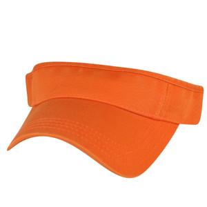 American Needle Bright Hot Orange Blank Solid Color Sports Sun  Visor Hat