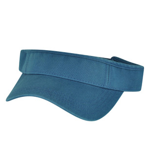 American Needle Opaque Steel Blue Blank Solid Color Sports Sun  Visor Hat