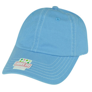 American Needle Sky Blue Ladies Fit Women Relax Blank Plain Solid Hat Slouch Cap