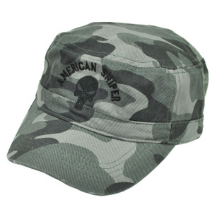 American Sniper Cadet Fatigue Gray Camouflage Camo Hat Cap  Skull Relaxed