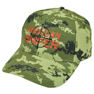 American Sniper Digital Camouflage Camo Hat Cap Gun  Skull Green Support