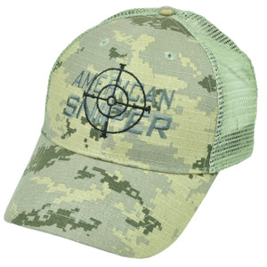 American Sniper Camouflage Camo Hat Cap Snapback Support Kyle Navy Seal Mesh