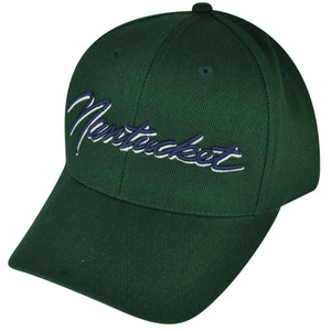 American Needle Nantucket Massachusetts State City Green  Town Hat Cap