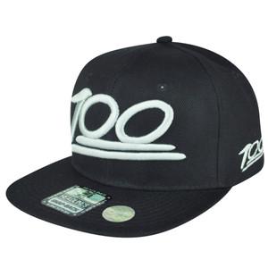 100 One Hundred Emoji Emoticons Text Symbol Snapback Hat Cap Flat Bill Gray